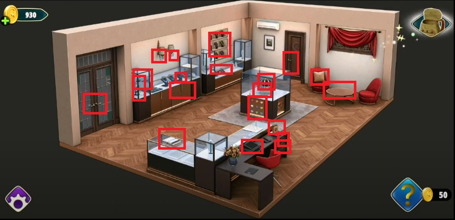 Rooms and Exits Level 17 first scene