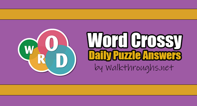 Word Crossy Daily Challenge September 20 2021 Answers